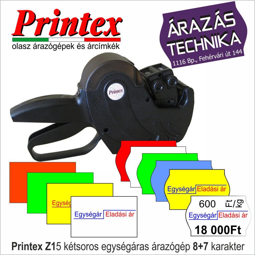 Printex Z15 kétsoros árazógép