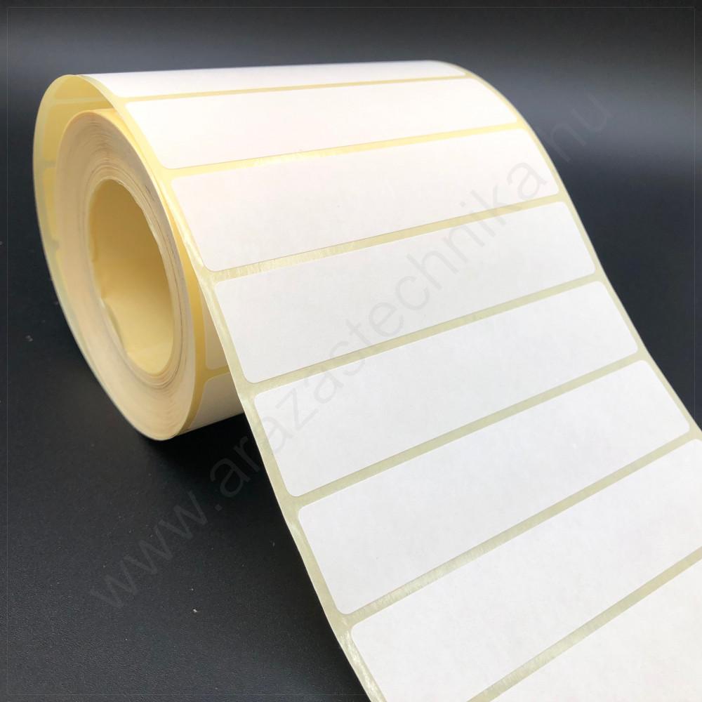 100×20 mm vellum papír címke /visszaszedhető ragasztóval / 1000 db/tek
