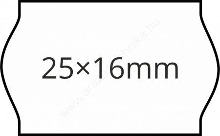 25x16mm fehér árazógépszalag