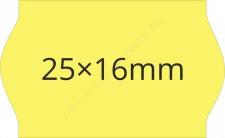 25x16mm citrom árazócímke