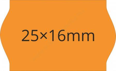 25x16mm narancs árazógépszalag