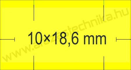 Monarch 1110 géphez 10x18,6mm citrom árazószalag