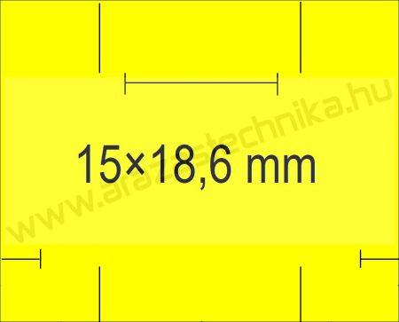 Monarch 1115 géphez 15x18,6mm citrom árazószalag