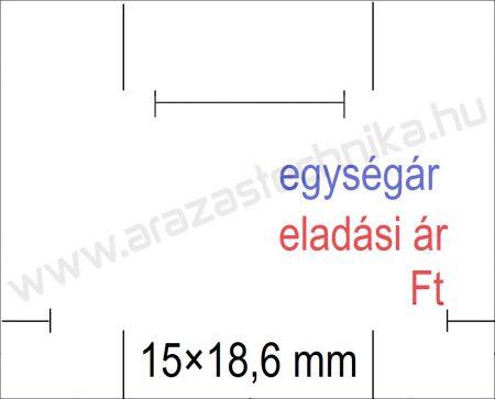 Monarch 1115 géphez 15x18,6mm fehér EÁ/EÁ feliratos árazócímke