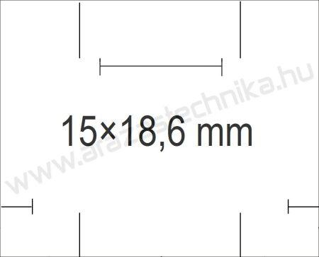 Monarch 1115 géphez 15x18,6mm fehér árazószalag