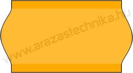22x12mm árazócímke - FLUO narancs - eredeti OLASZ (1400db/tek)