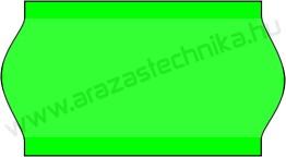 22x12mm árazócímke - FLUO zöld - eredeti OLASZ (1400db/tek)