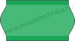 22x12mm zöld árazószalag