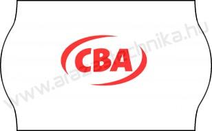 25x16mm CBA feliratos árazószalag