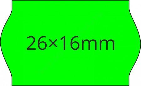 26x16mm eredeti OLASZ FLUO zöld árazógépszalag (1000db/tek)