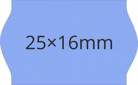 25x16mm kék árazógépszalag