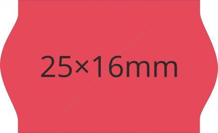 25x16mm piros árazócímke