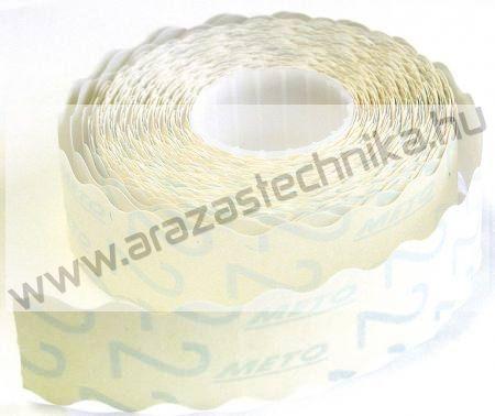 26x16mm fehér METO árazószalag