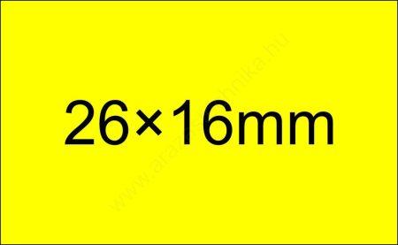 26x16mm eredeti olasz FLUO citrom árazócímke  (1000db/tek) - szögletes