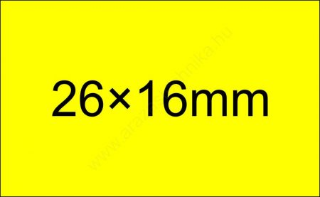 26x16mm FLUO citrom árazócímke  - szögletes