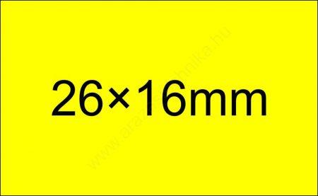 26x16mm FLUO citrom ORIGINAL árazócímke (1.000db/tek) - szögletes
