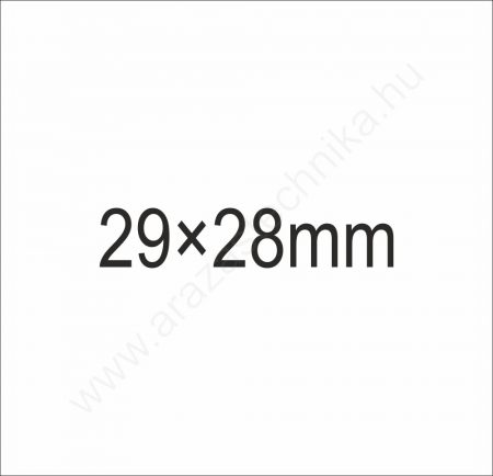 29x28mm METO eredeti árazócímke