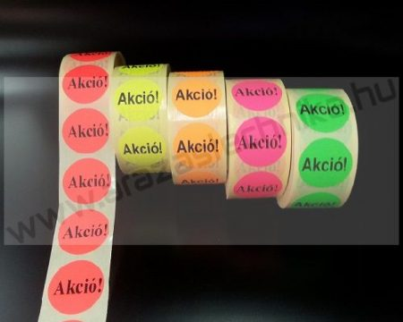 38 mm körcímke - fluo alapon -10% -20% -30% -50%