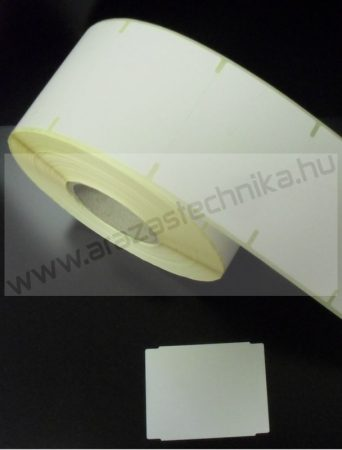 55×43 mm THERMO címke, Micra mérlegcímke - becsípéses / (1000 db/tek)