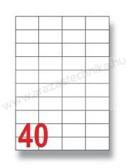 52,5×29,7mm 40 db/ív Rayfilm íves etikett címke [0304A]