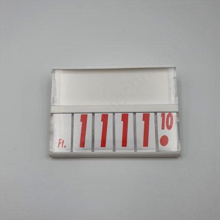 Árkazetta 74×51mm (fehér-piros)