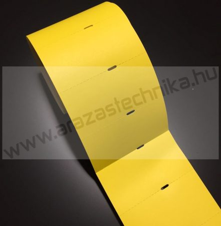 Polccímke (4 cm-es ársínhez) 80×40 mm THERMO - citrom kartoncímke