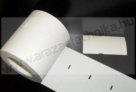 Polccímke (4 cm-es ársínhez) 80×40 mm THERMO - fehér kartoncímke