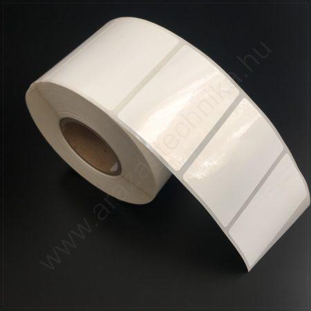 60x40 mm PP Gloss White címke (1.000db/40)