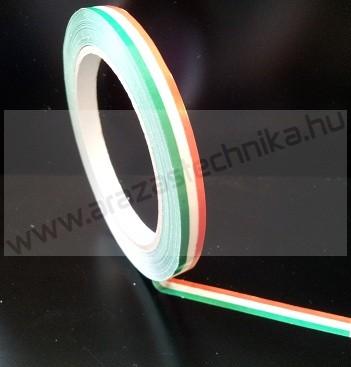 Tasakzárószalag 10mm×66m magyar nemzeti színű