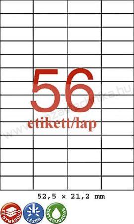 52,5×21,2 mm 56db/ív Rayfilm íves etikett címke [0302]
