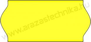 26x12mm eredeti OLASZ FLUO citrom árazószalag