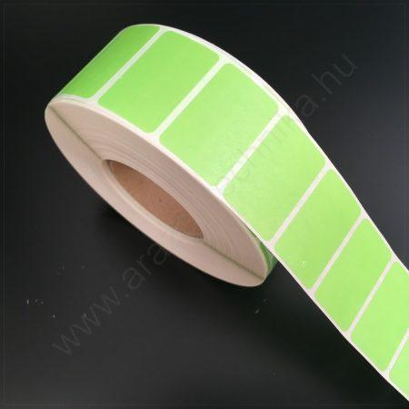 32x20 mm TT papír címke-  ZÖLD - REM.visszaszedhető