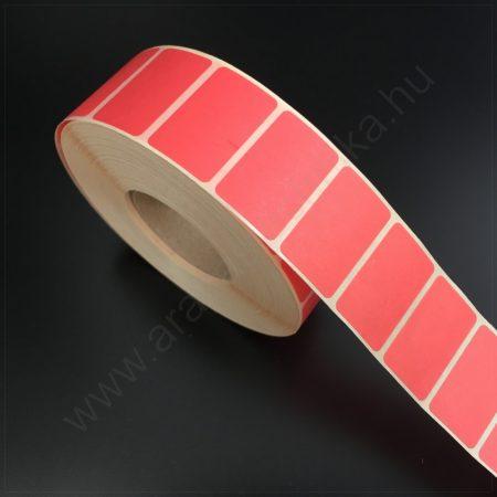 32×20 mm színes címke / visszaszedhető ragasztóval / PIROS