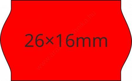 26x16mm eredeti OLASZ fluo piros árazószalag (1000db/tek)