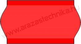 22x12mm árazócímke - FLUO piros - eredeti OLASZ (1400db/tek)