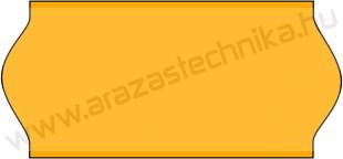 26x12mm eredeti OLASZ FLUO narancs árazószalag