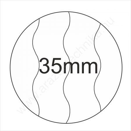 35mm BIZTONSÁGI - fehér körcímke 400db/tek