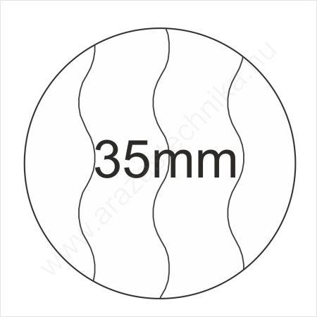 35mm BIZTONSÁGI - fehér körcímke (400 db/tek)