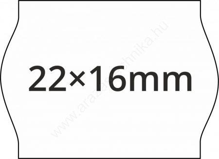 22x16mm árazócímke METO1622 árazógépbe (42tek/#)