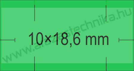 Monarch 1110 géphez 10x18,6mm zöld árazószalag