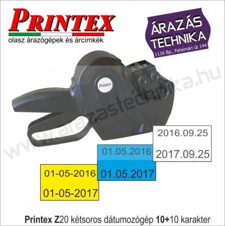 PRINTEX Z20 kétsoros árazó - dátumozógép (10+10 karakter)
