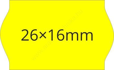 26x16mm eredeti OLASZ fluo citrom árazógépszalag (1000db/tek)
