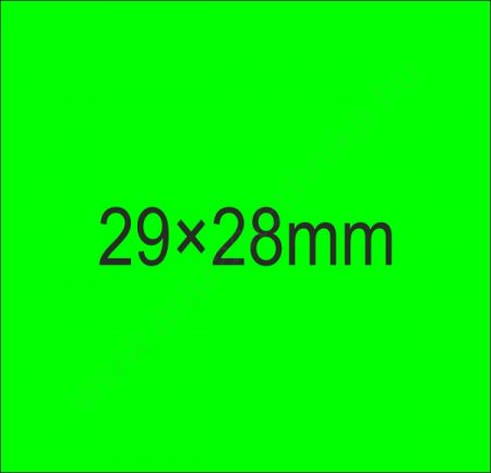 29x28mm FLUO zöld árazócímke (700db/tek)