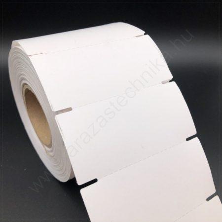Zsinoros ékszercímke 11×22 mm fehér