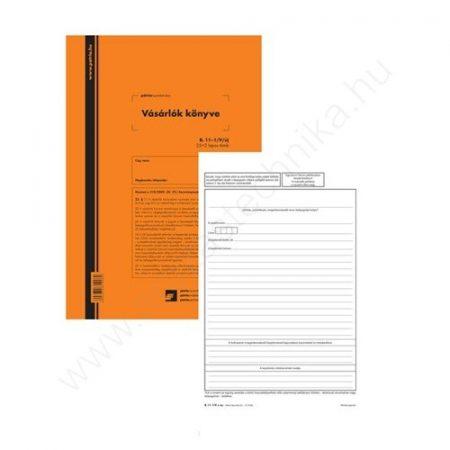 Vásárlók könyve 25x2 lapos tömb A/4 álló B. 11-1/V/ÚJ GDPR kompatibilis