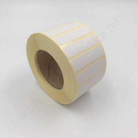 40×10 mm vellum matt papír tekercses címke 2000 db/tekercs