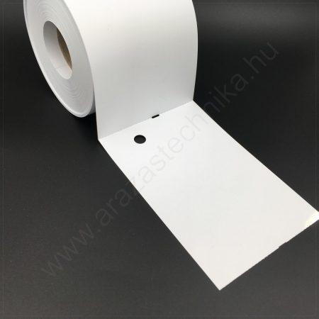 Függő etikett PVC 100x150 mm - időjárásálló kartoncímke - nem öntapadós