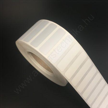 35x9 mm PET Matt SILVER (2.500db/40) - ezüst címke