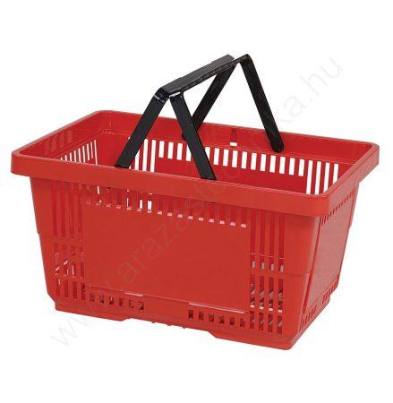22 literes   kézi bevásárló kosár - piros