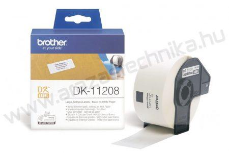 Brother DK-11208 etikett 38mm x 90mm  400db/tekercs